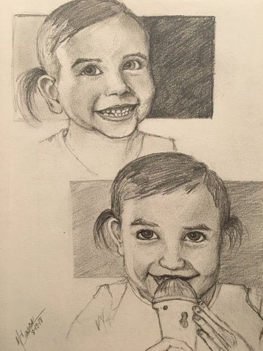 Baby girl is growing up too fast! These sketches are studies for