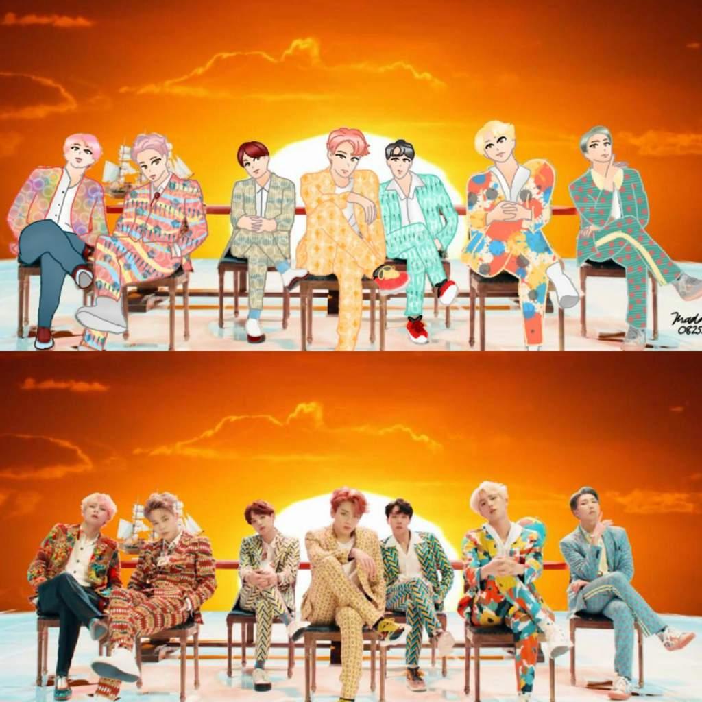Korean Girl Cartoon Wallpaper Bts Quot Idol Quot M V Fan Art💕 K Pop Amino