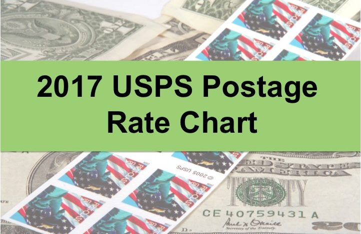 Handy 2017 Postage Rate Chart - Nonprofit Direct Mail Production - rate chart