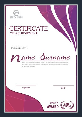 Modern Certificate Template ,diploma Layout stock vectors - Clipartme - certificate layout