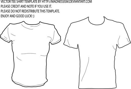 Free Tee Shirt Vector Template By M Clipart and Vector Graphics