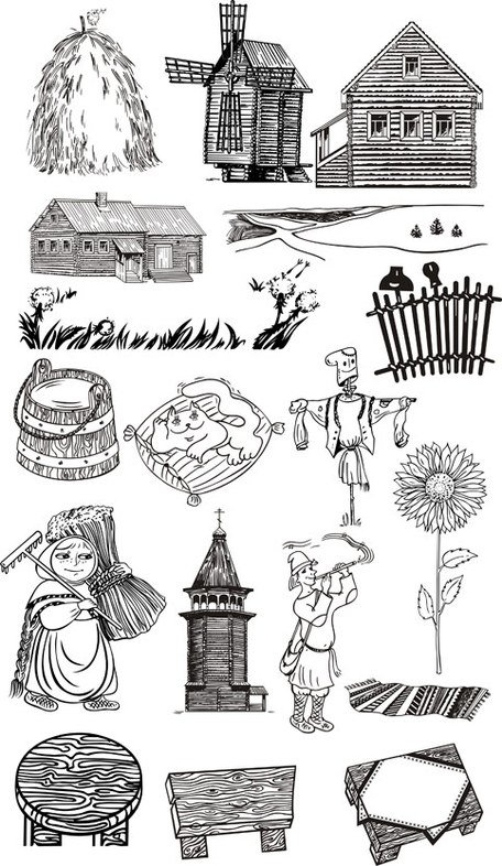 Free Farm line drawing Clipart and Vector Graphics - Clipartme
