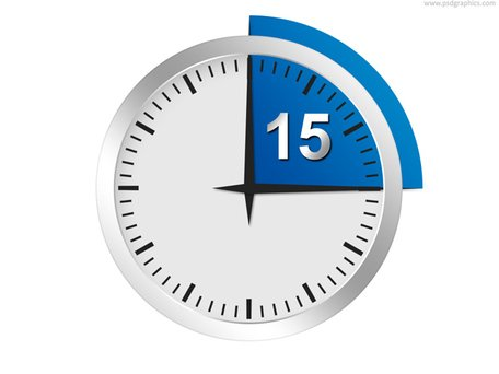 Free Minutes or seconds timer PSD template Clipart and Vector
