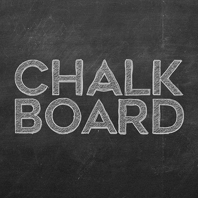 chalkboard text effect Art Font For Free Download