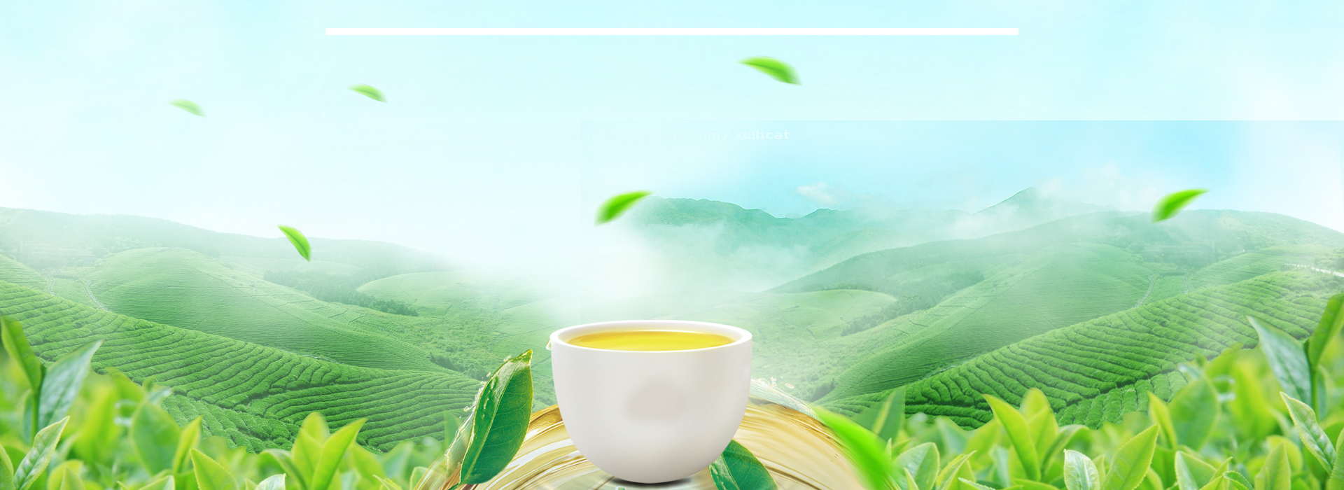 Fall Heart Leaves Background Wallpaper Great Fresh Tea Background Banner Great Fresh Tea