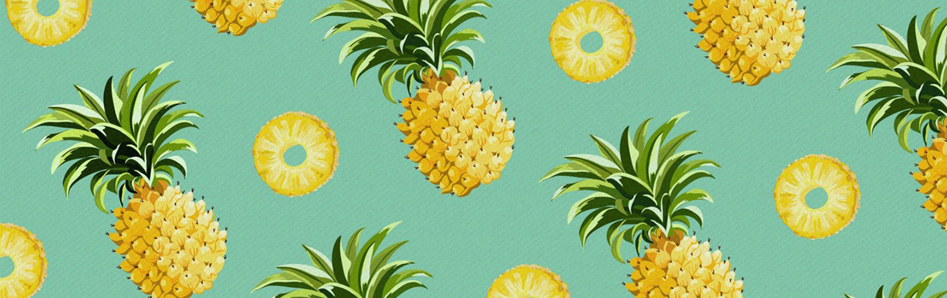 Cute Ribbons Wallpaper Pineapple Pattern Background Fruits Cartoon Pineapple
