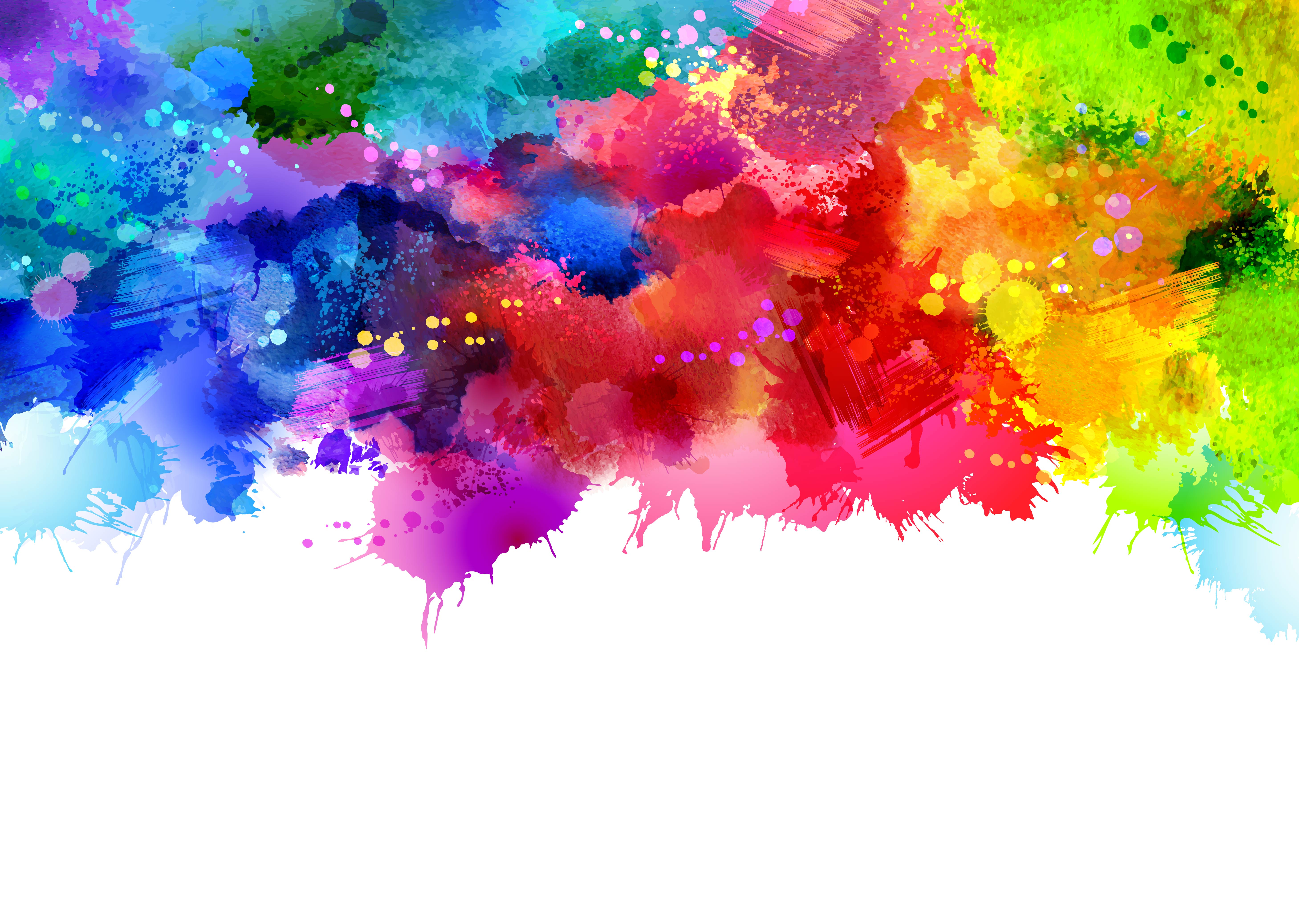 Fall Bird Wallpaper Colorful Watercolor Ink Splashes Vector Background Vector