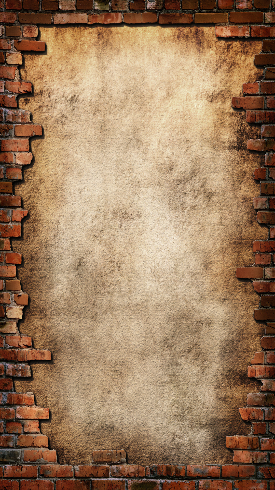 Fall Baby Animal Wallpaper H5 Old Wall Background Material Old Wall Brick