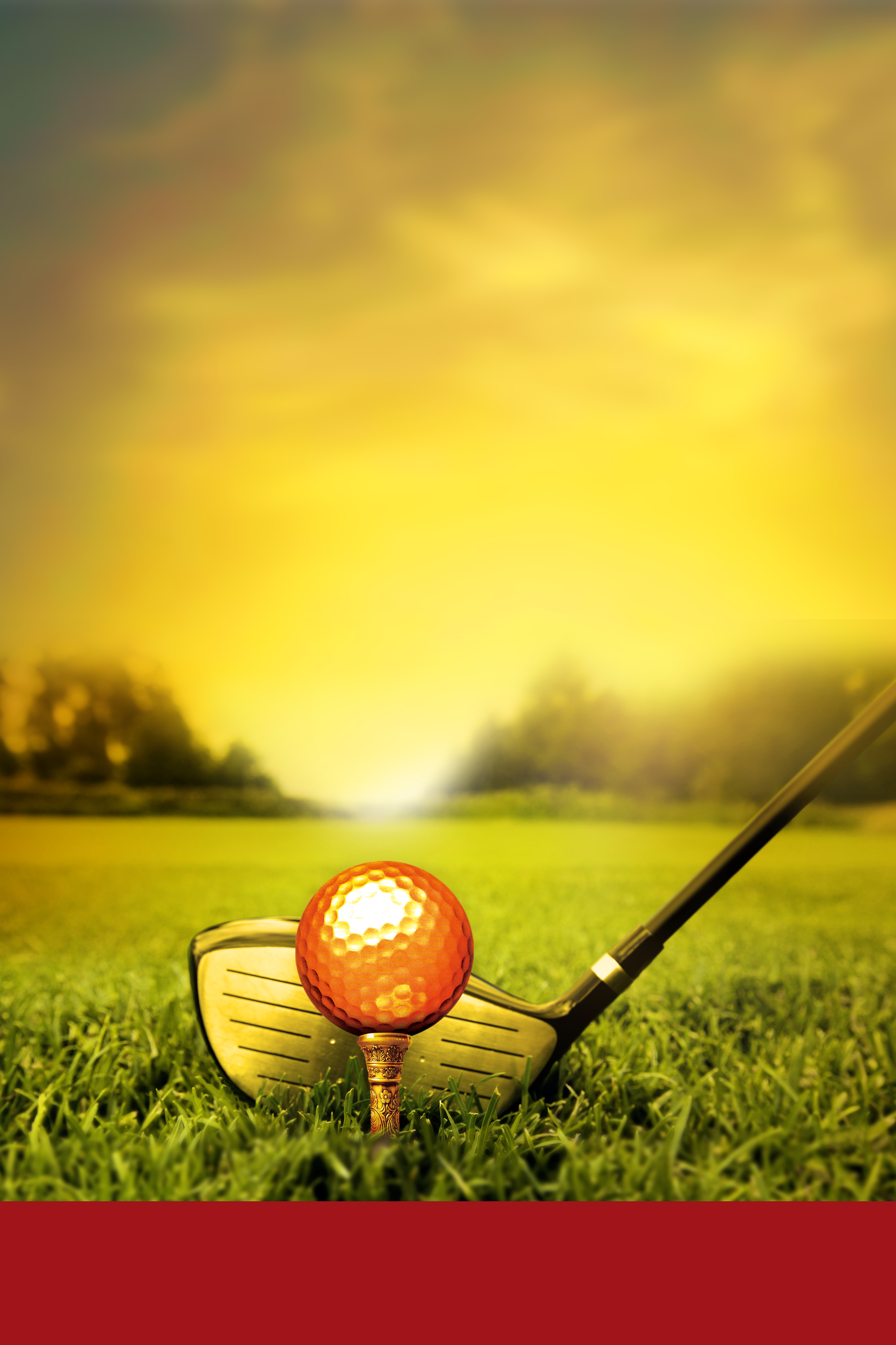 Fall Brithday Wallpaper Golf Poster Background Material Posters Poster Yellow