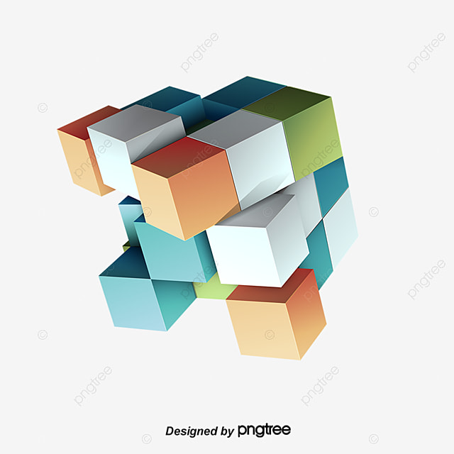 3d Cube, 3d, Three Dimensional, Rubik\u0027s Cube PNG and Vector for Free