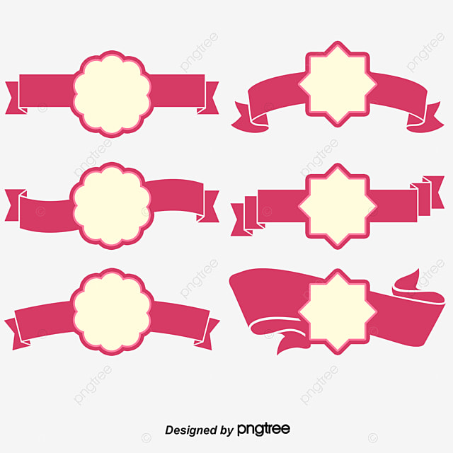 Pink Label, Pink Vector Banner, Vector Banners, Curve Banner PNG and
