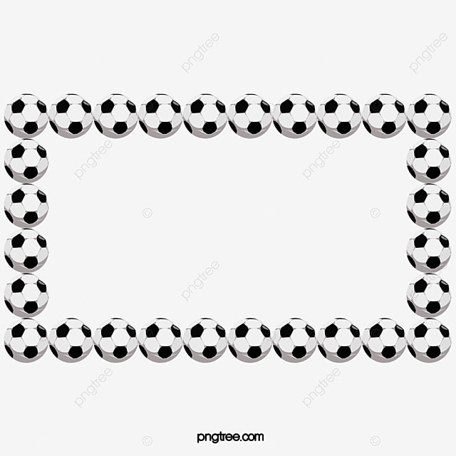 Football Black And White Border, Football Clipart, Football, Frame
