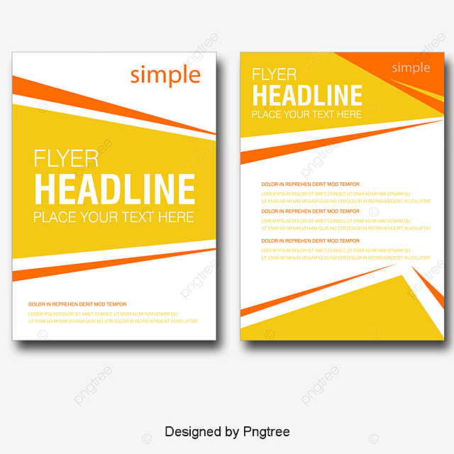 Vector Exquisite Single-page Flyer Design Material, Beautifully - free design flyer templates