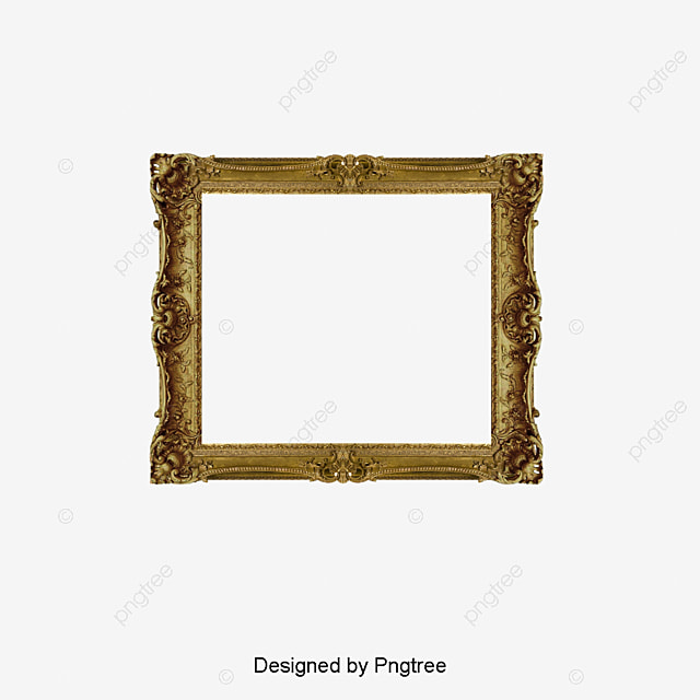 Gold Photo Frame, Frame Clipart, French Photo Frame, Frame Word PNG - word design frames