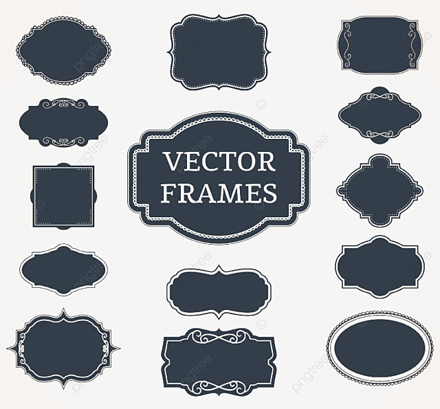 Black Blank Label Vector, Black, Blank, Label PNG and Vector for