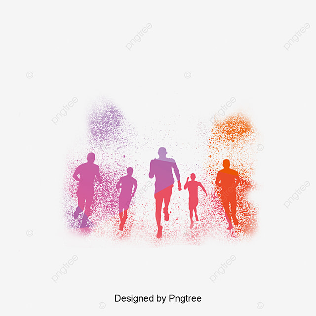 Account Wallpaper For 11 Girls Run Color Run Fitness Png Image And Clipart For Free