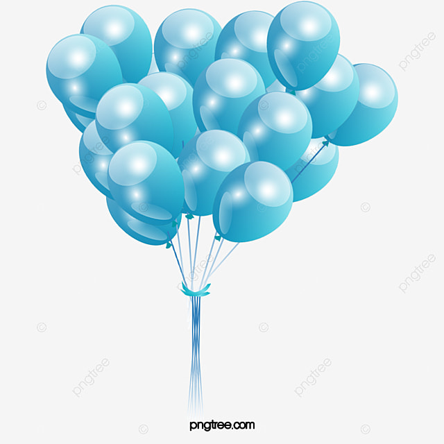 Balloon, Balloon Clipart, Blue Balloons, Floating PNG Image and