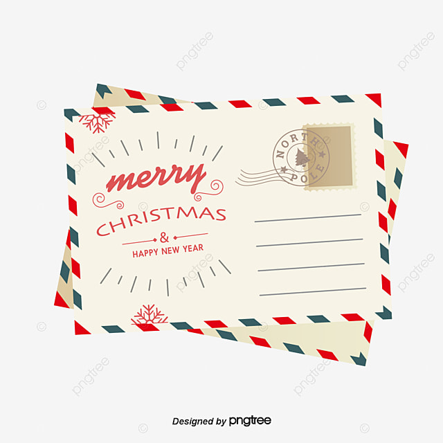 Letters From Santa, Retro Envelopes, Christmas Letter, Vector PNG - Santa Envelopes