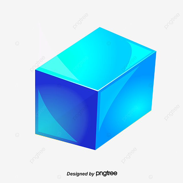 Blue Cube, Cube, Box, 3d Cube PNG and PSD File for Free Download