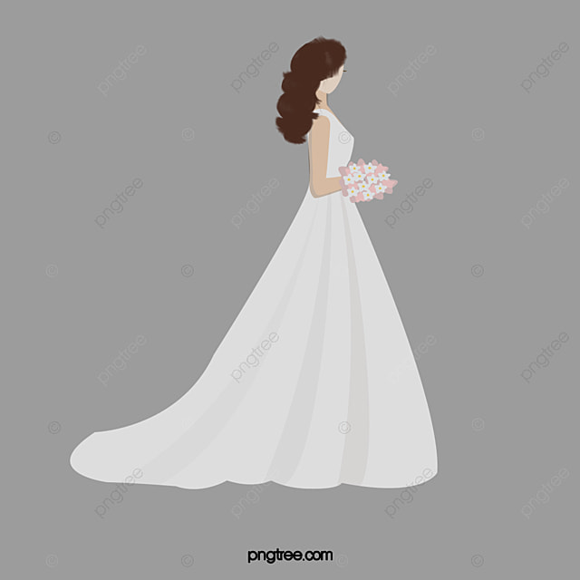 Pink Girl Cartoon Wallpaper The Bride Wore A Wedding Dress Girl Bride Wedding Dress