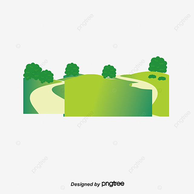 Free Country Fall Wallpaper Cartoon Painted Green Meadow On The Outskirts Of The Road