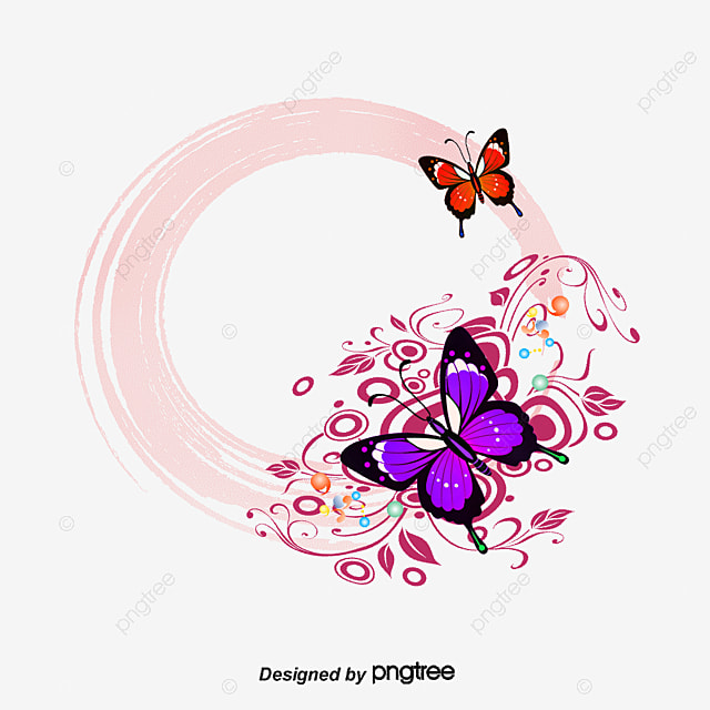 Cute Butterflies Hd Wallpapers Vector Colorful Butterfly Border Frame Hand Painted