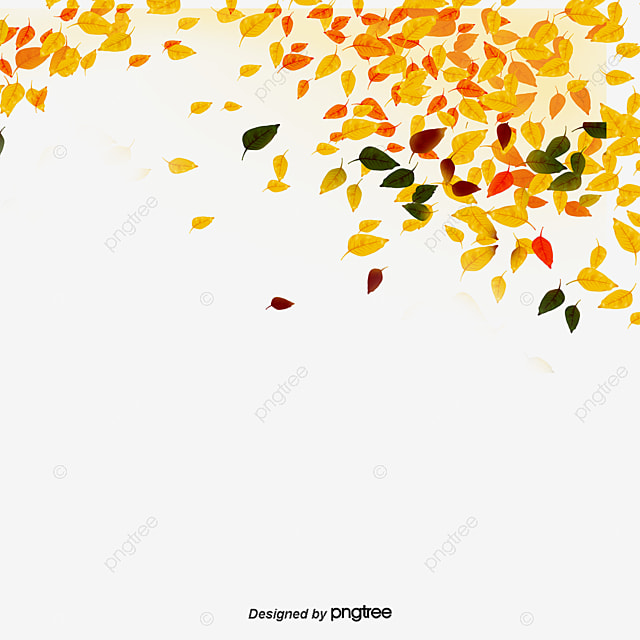 Fall Leaves Watercolor Wallpaper Golden Autumn Leaves Falling Background Golden Leaves