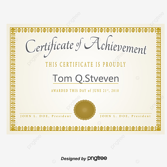 Vector Gold Frame Texture Letter Of Appointment Certificate, Vector