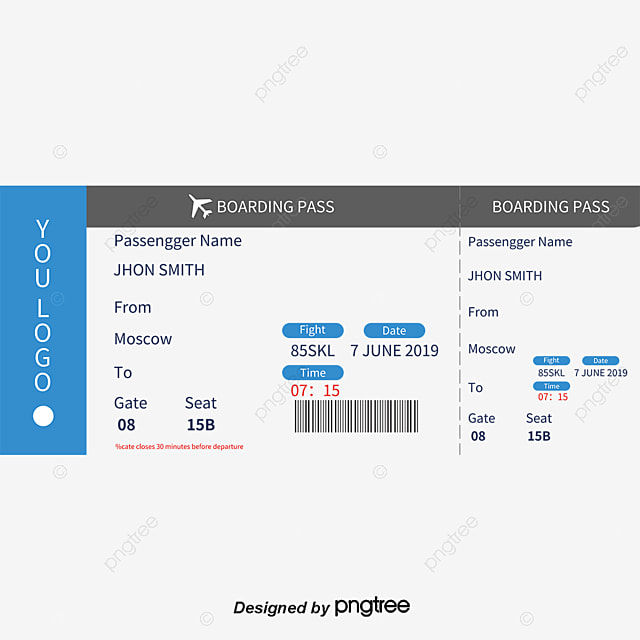 Blue Red Boarding Pass Template, Blue, Red, Boarding Pass PNG and - boarding pass template