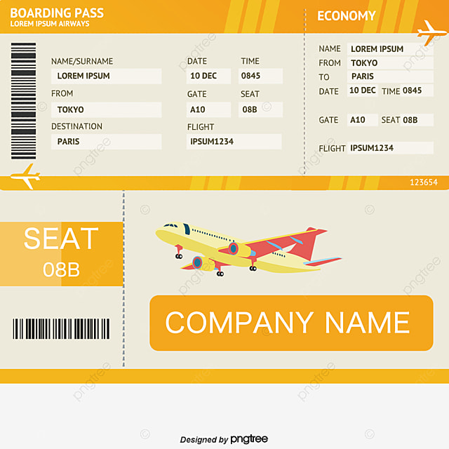 Blue Flat Ticket Template, Blue, Flat, Air Tickets PNG and Vector - airplane ticket template