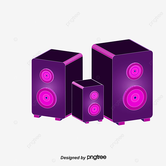 Cool Trend Music Background Vector Material, Speaker Background