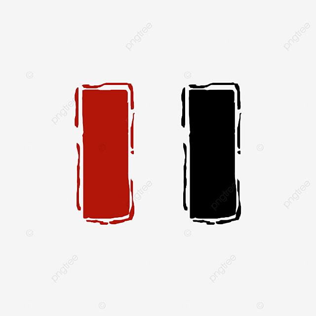 Red Blue Black Stamp Template Material, Triangle, Round, Red PNG - stamp template