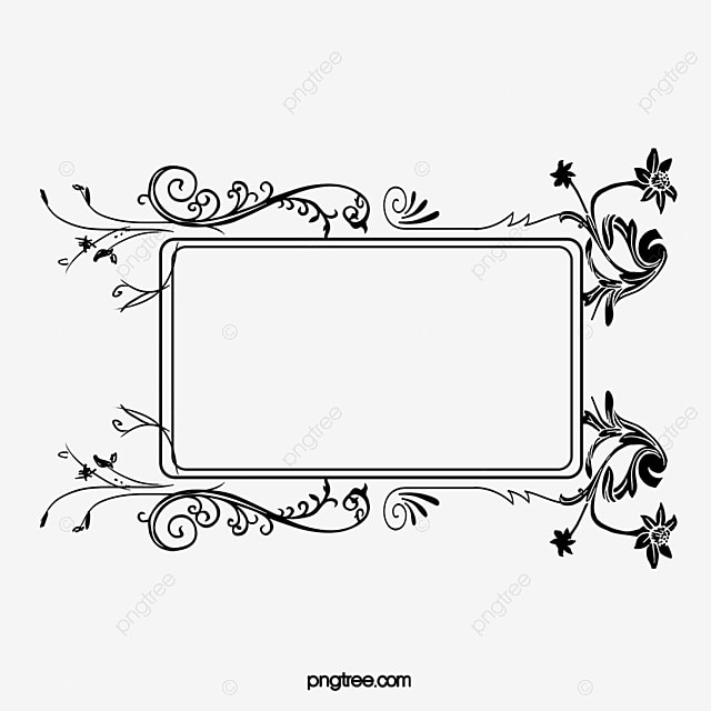 Black And Elegant Border, Frame, European Style, Curl PNG and Vector