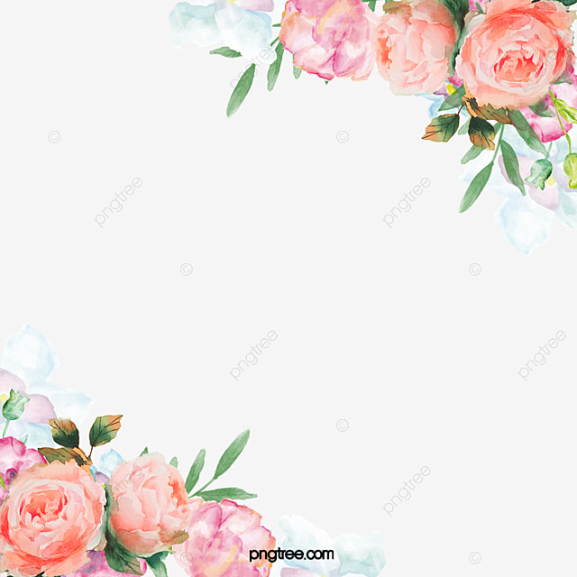 Cute Bordered Pastel Flower Wallpaper Hand Painted Flower Borders Flower Clipart Frame Hand