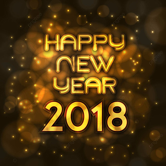 Happy New Year 2018 Background, New, Year, Background PNG and Vector