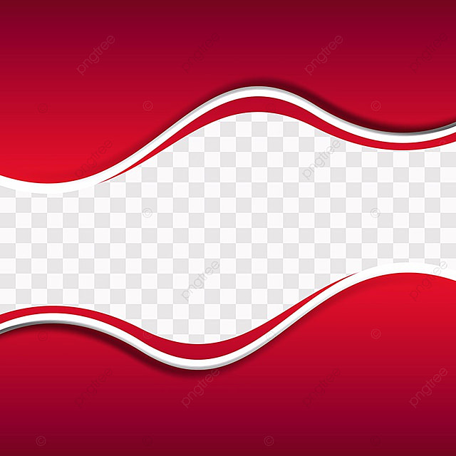 White Wave 3d Wallpaper Red Wavy Shapes On Transparent Background Red Background