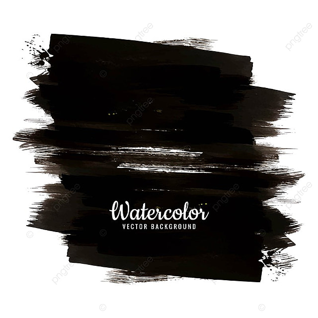 Modern Black Watercolor Background, Banner, Watercolor, Abstract PNG