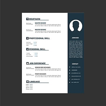 Chinese Style Personal Resume Template, Chinese Clipart, Resume