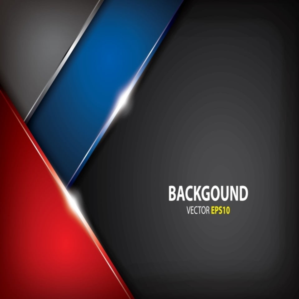 Luxury Metallic Red And Blue Innovation Concept Black Background