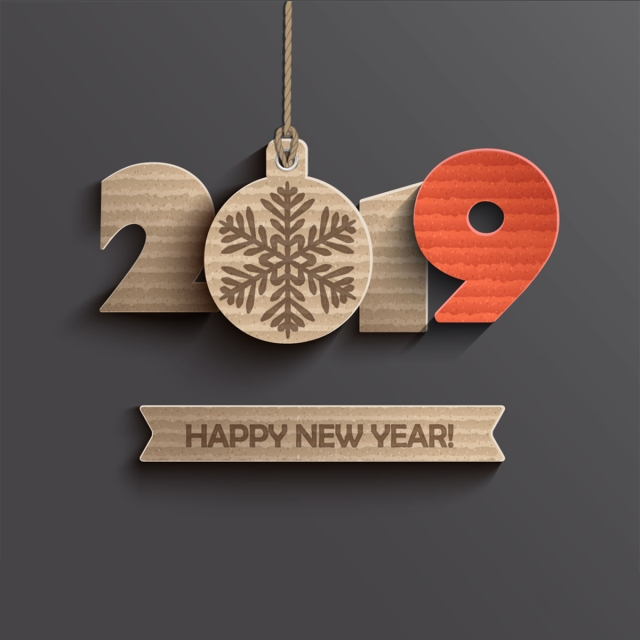 Green Arrow Wallpaper Hd Modern Creative Card For Happy New Year 2019 Paper Design
