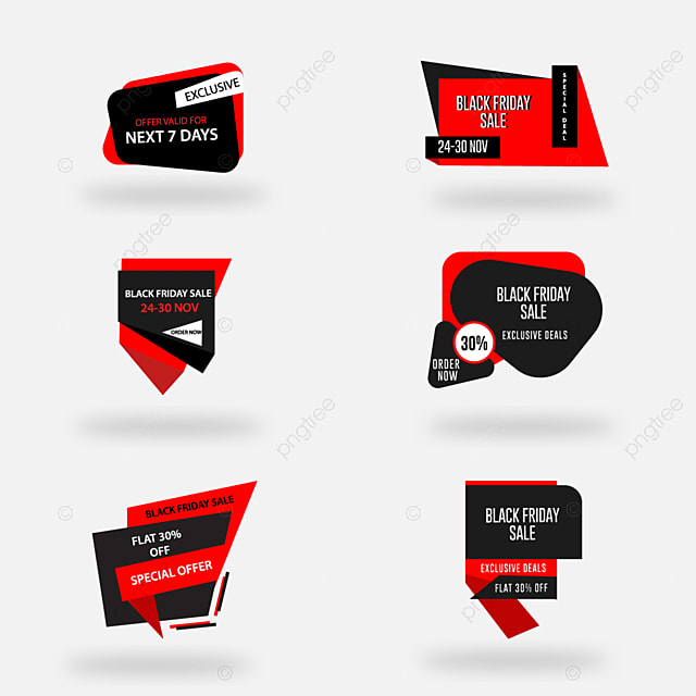 Sale Tags Badges Black Friday Sale Ad Banner Flyer Template