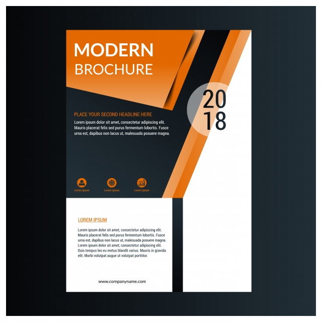 Brochure Template Layout Design Corporate Business Annual Repor