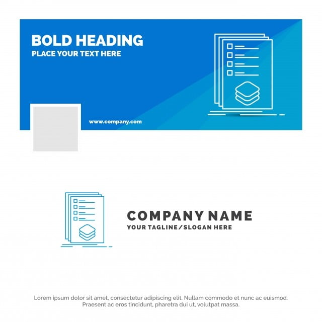 Blue Business Logo Template For Categories,check,list,listing