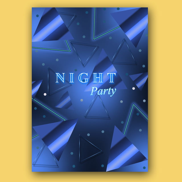 Party Night Template, Flyer, Poster Advertisements, Banner PNG and