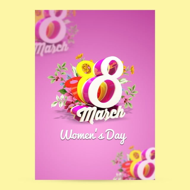 Flyer Women\u0027s Day, Flyer, Women\u0027s Day PNG and PSD File for Free Download