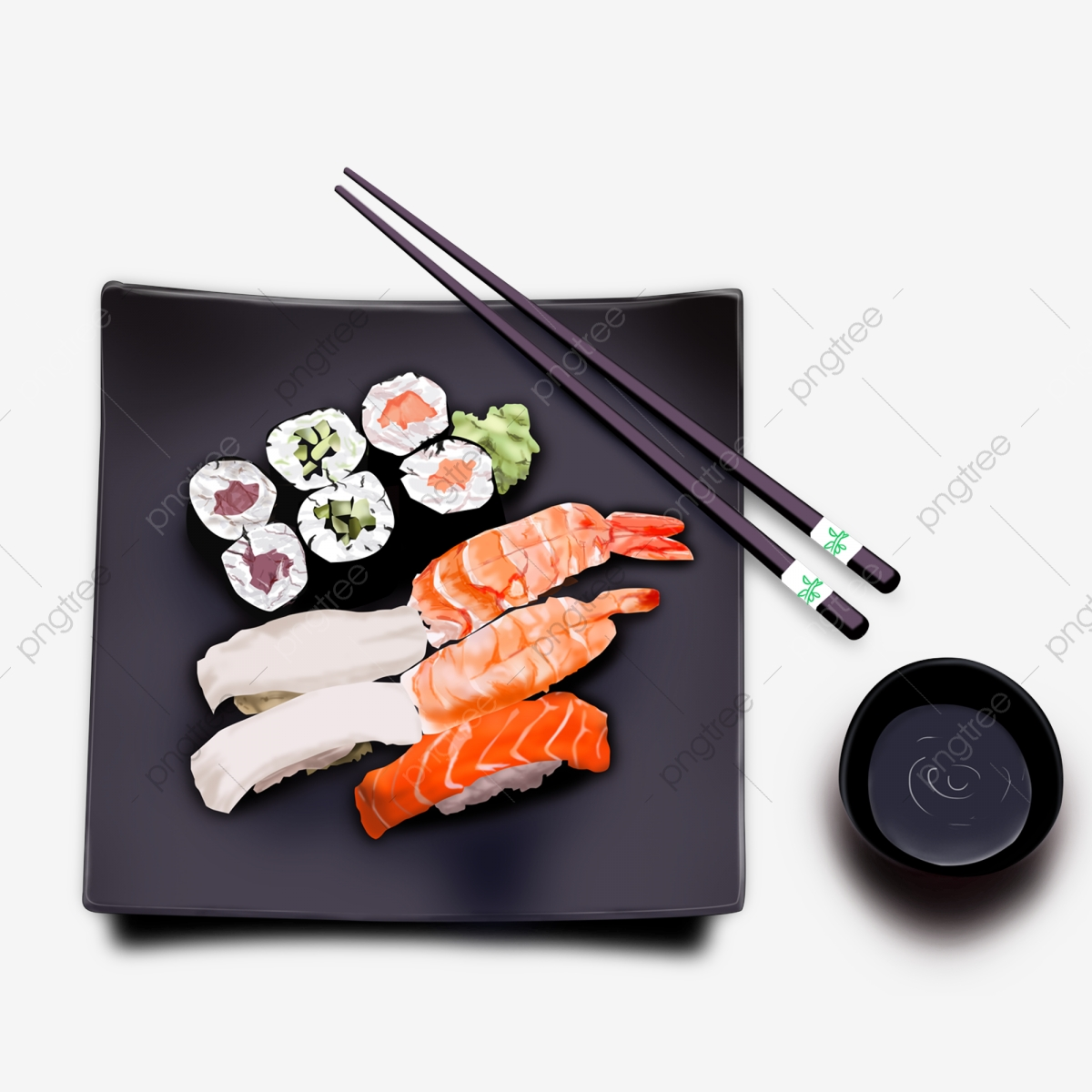 Element Cuisine Japanese Cuisine Food Element Japan Daily Material Sushi Png