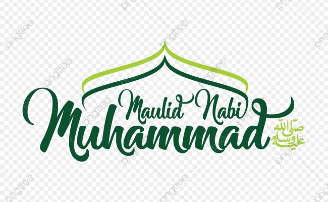 Typography Maulid Nabi Mawlid Muhammad Arabic Png And Vector With Transparent Background For