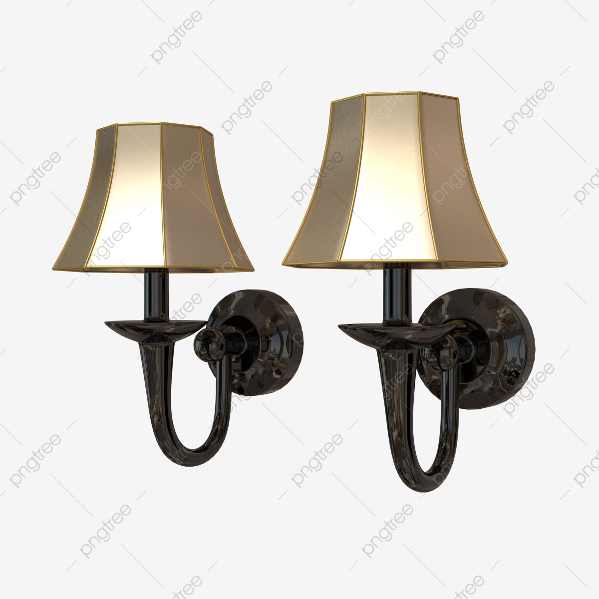 A Set Of Wall Hanging Lamps Wall Lamp Lamp Lighting Png Transparent Clipart Image And Psd File For Free Download