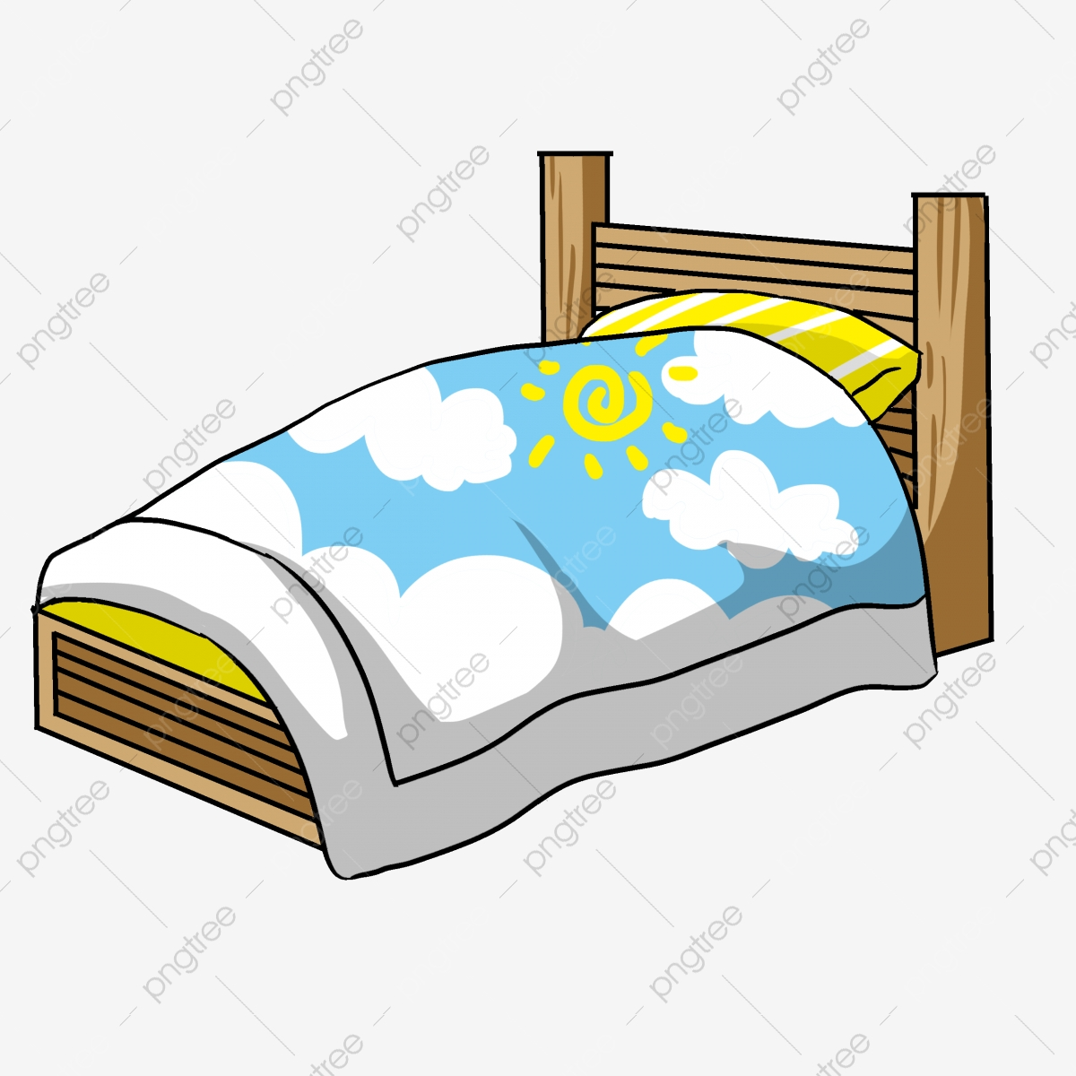 A Dark Single Bed Illustration Bed Clipart A Dark Single Bed Illustration Png Transparent Clipart Image And Psd File For Free Download