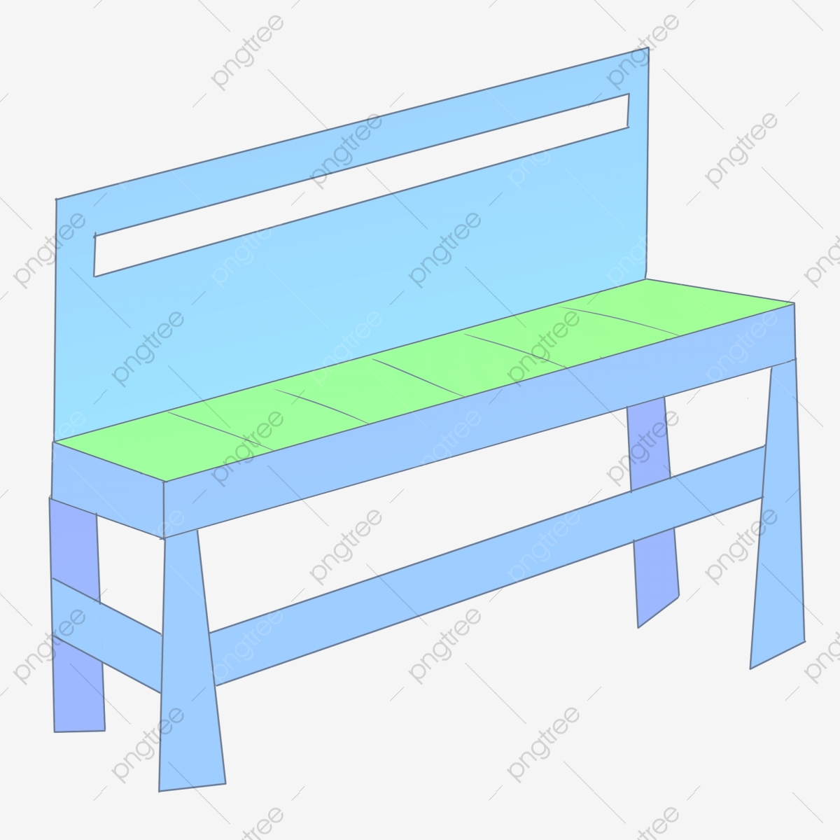 Blue Long Chair Cartoon Illustration Blue Chair Long Chair Wooden Chair Png Transparent Clipart Image And Psd File For Free Download